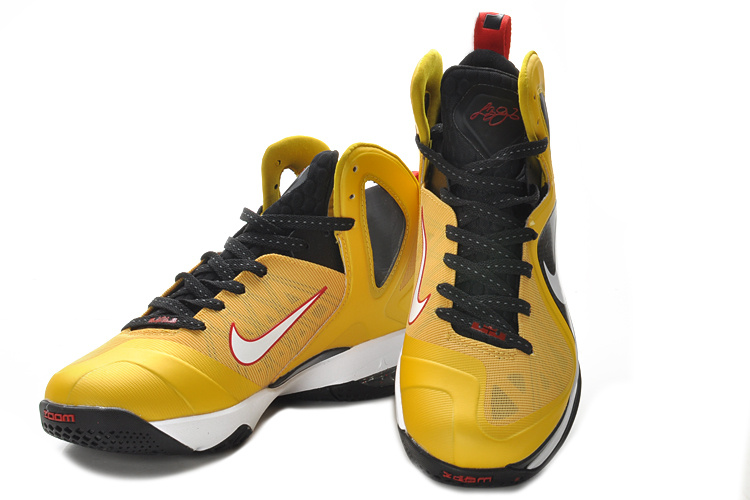Lebron James 9 PS Elite Yellow Black White Shoes
