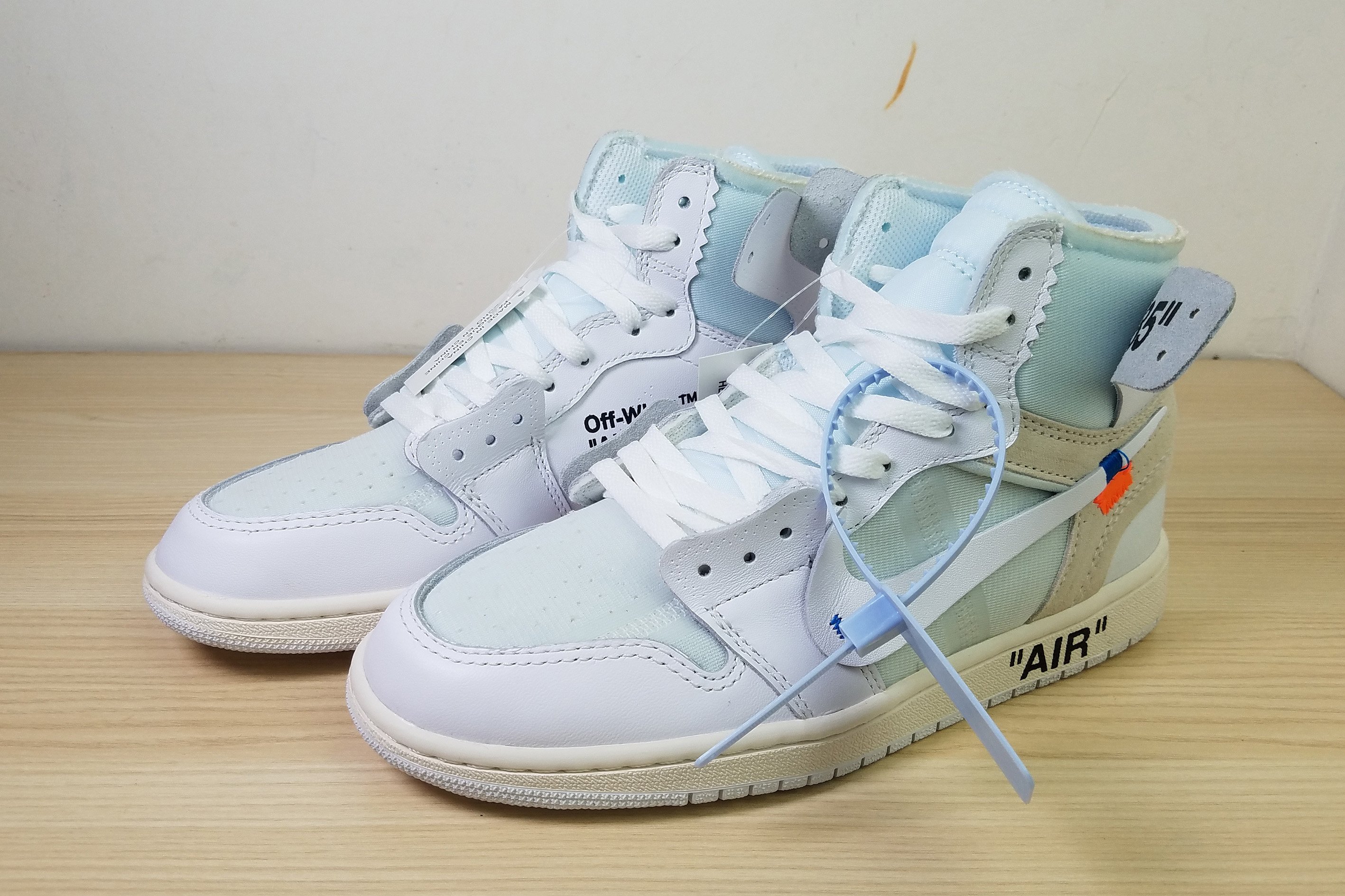 Off-white Air Jordan 1 White Light Blue Shoes