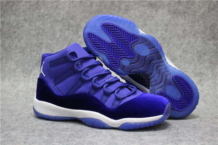 Official Air Jordan 11 High Royal Blue White Shoes