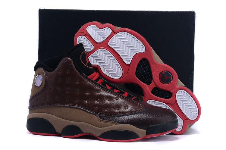 Official Air Jordan 13 Retro Coffe Red Shoes