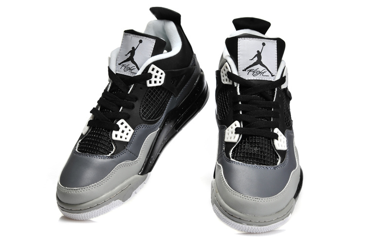 air jordan 4 black grey