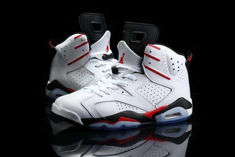 Original 2015 Jordan 6 Retro White Red Black