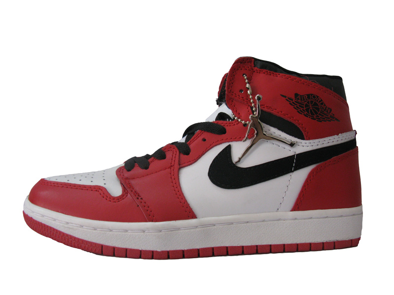 Air Jordan 1 Red White Black Shoes