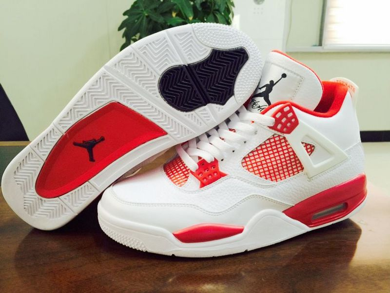 Original Air Jordan 4 Alternate 89 Melo White Red