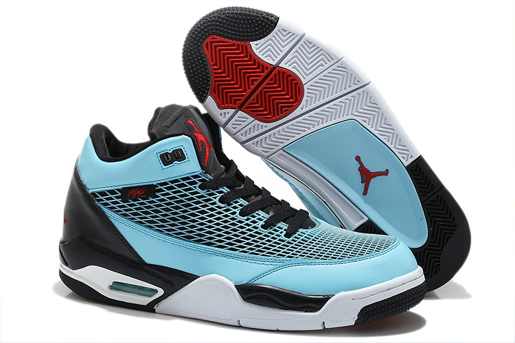 Special Air Jordan Flight Club 80S Blue Black White Shoes