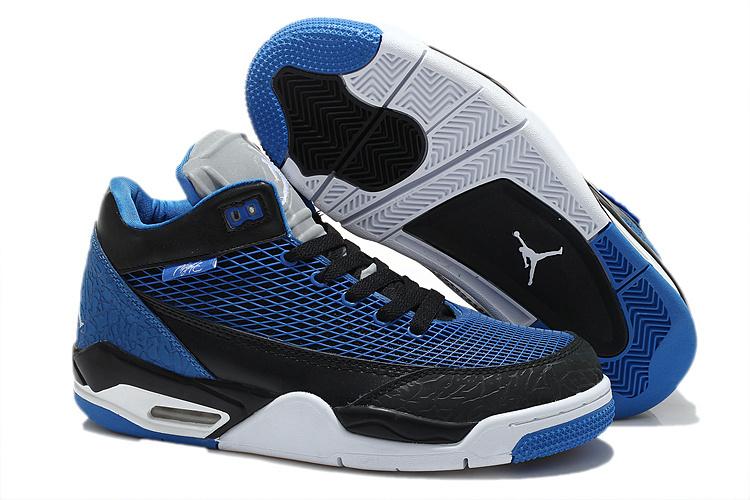 Special Air Jordan Flight Club 80S Dark Blue Black Shoes