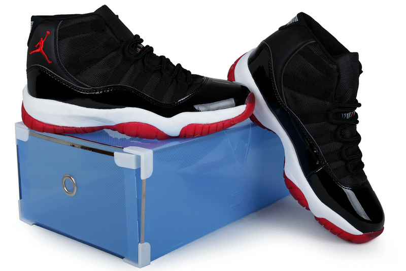 Summer Air Jordan 11 Black Red White Crystal Transparent Package