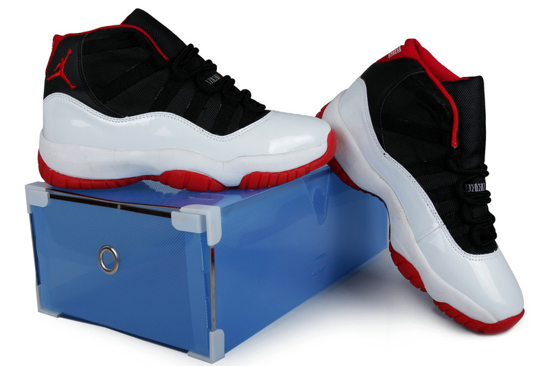 Summer Air Jordan 11 Black White Red Crystal Transparent Package
