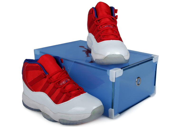 Summer Air Jordan 11 Red White Crystal Transparent Package