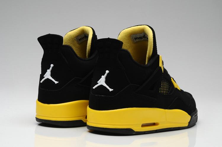 Thor Air Jordan 4 Black Yellow For Women