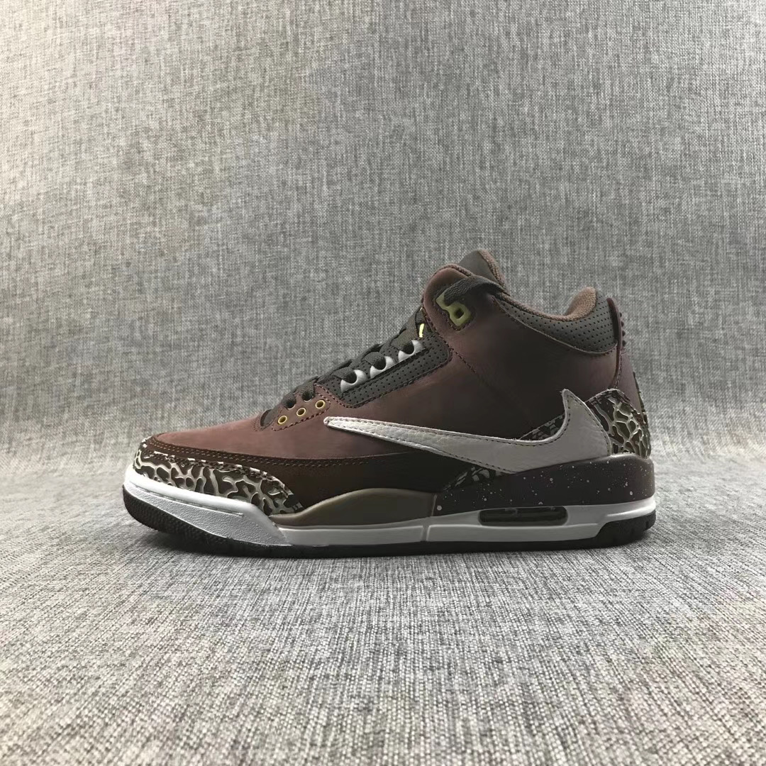 Air Jordan 3 Coffe Black White Shoes