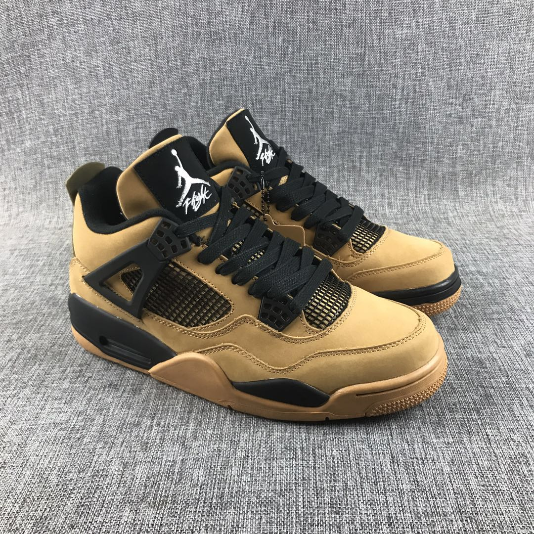Travis Scott x Air Jordan 4 Brown Black Shoes