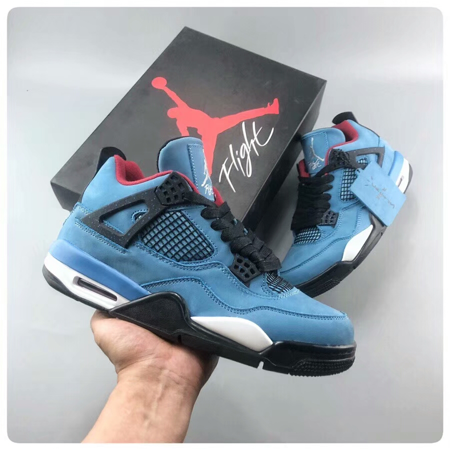 Travis Scott x Air Jordan 4 Houston Oilers Shoes