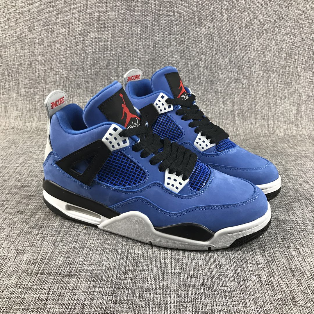 Travis Scott x Air Jordan 4 Royal Blue Black Shoes