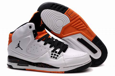 Air Jordan Jumpman Shoes White Black Orange