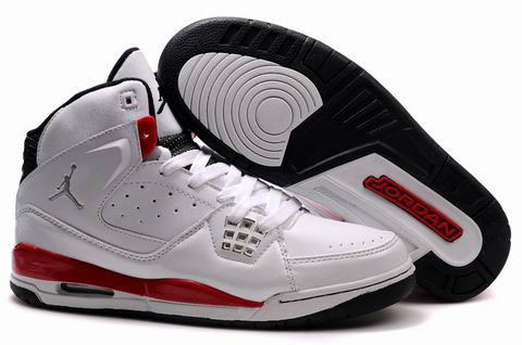 Air Jordan Jumpman Shoes White Red Black