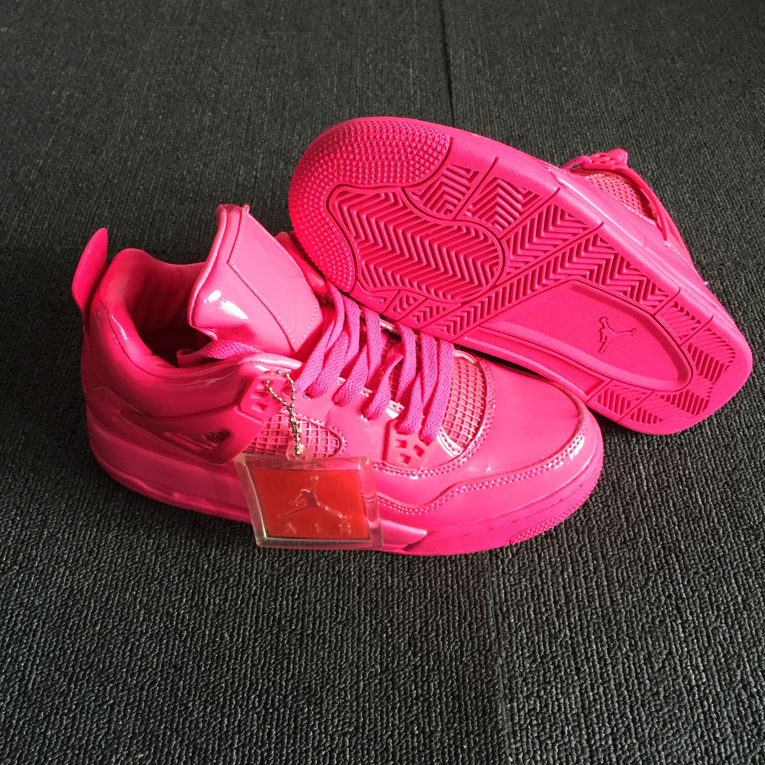 Women Air Jordan 4 Valentine's Day Red Shoes