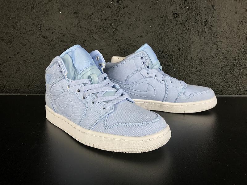 Women Air Jordan 1 Ice Blue Shoes