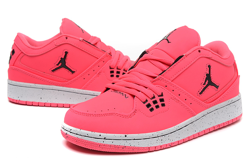 Women Air Jordan 1 Low Pink White Shoes