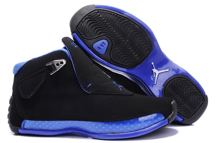 Women Air Jordan 18 Black Blue Shoes