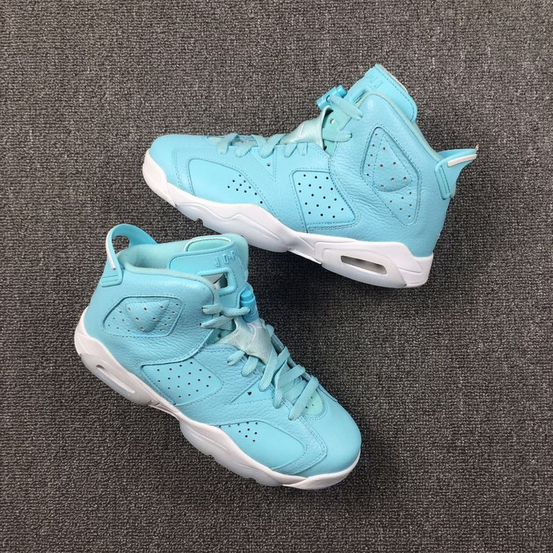Women Air Jordan 6 North Carolina Blue Shoes