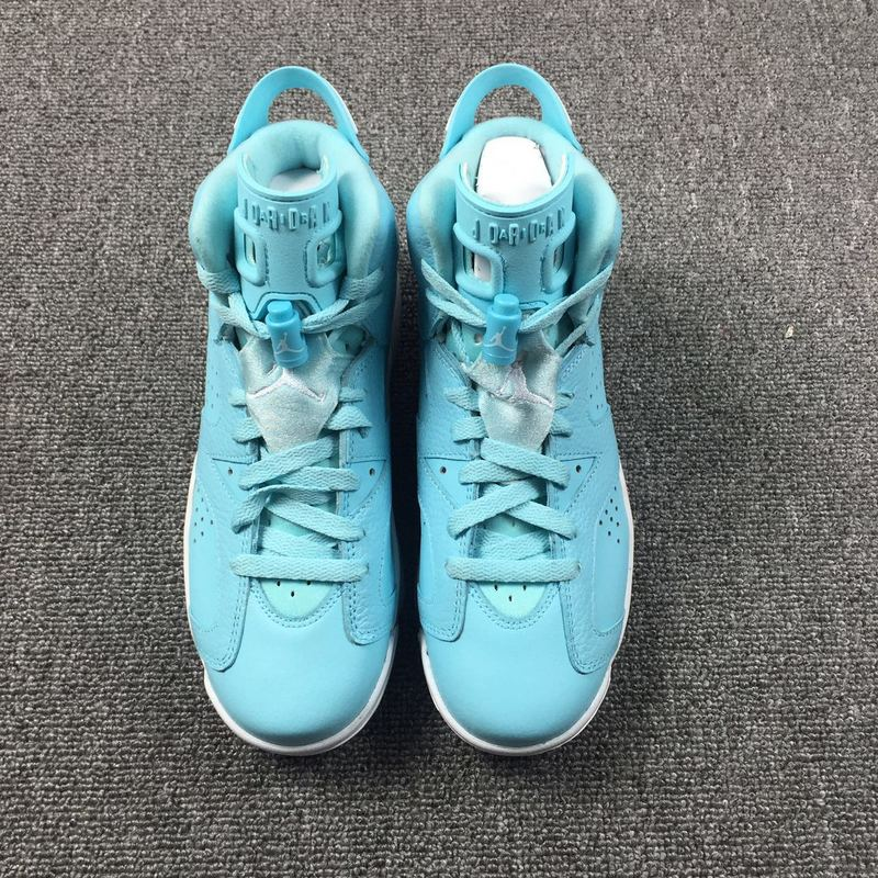 Women Air Jordan 6 North Carolina Blue Shoes - Click Image to Close