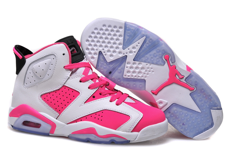 Women Air Jordan 6 Retro White Pink Shoes