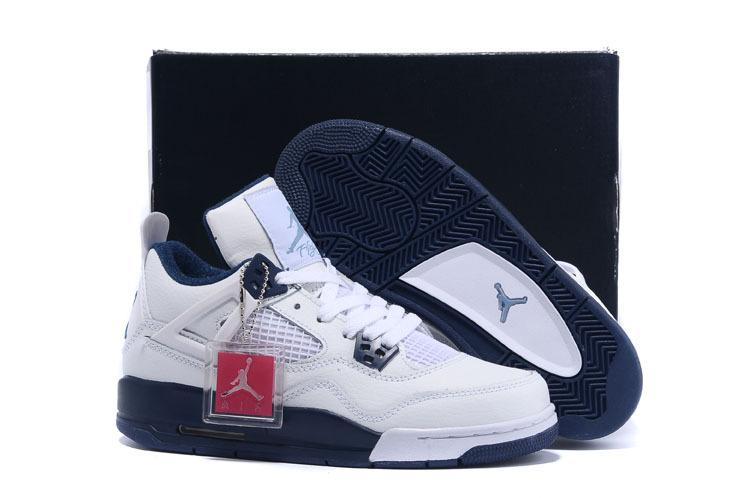 Women Jordan Retro 4 Columbia Shoes