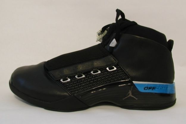 air jordan 17 original black metallic-silver shoes