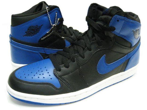Air Jordan 1 Black Royal Blue White Shoes