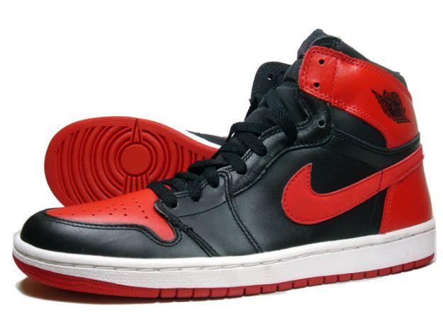 Air Jordan 1 Black Varsity Red White Shoes