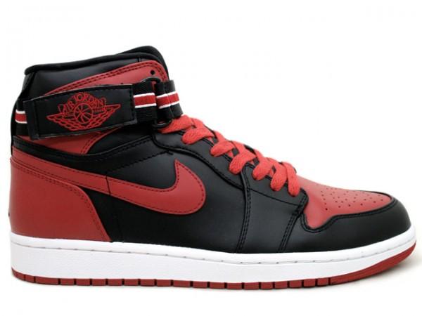 Air Jordan 1 High Strap Lack Varsity Red White Shoes