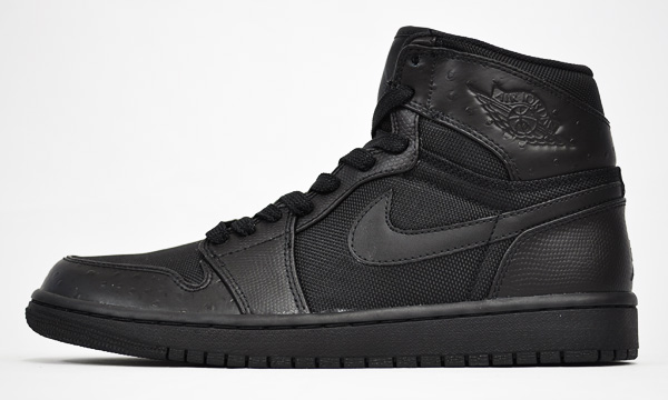 Jordan 1 Retro High Black Black Anthracite Shoes