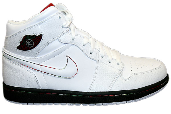 Jordan 1 Retro White Black Classic Green Varsity Red Shoes