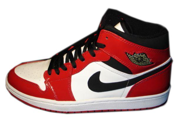 Jordan 1 Retro White Black Red Shoes