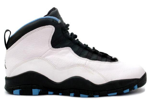 air jordan 10 charlotte hornets white black dark powder blue shoes