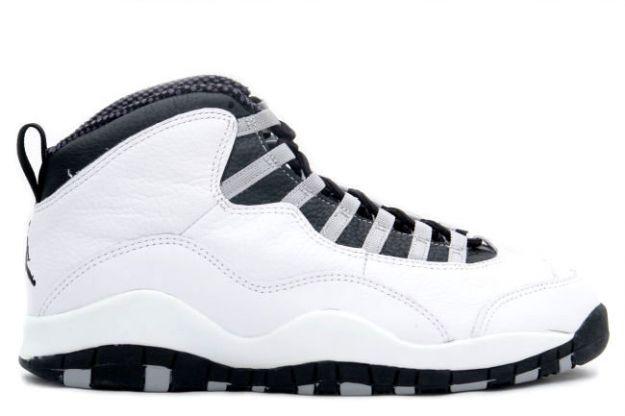 air jordan 10 steels white black light steel grey shoes