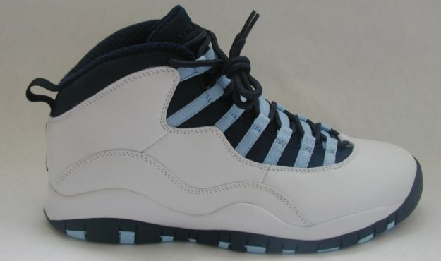 Jordan 10 Retro ice blue white obsidian ice blue varsity red shoes