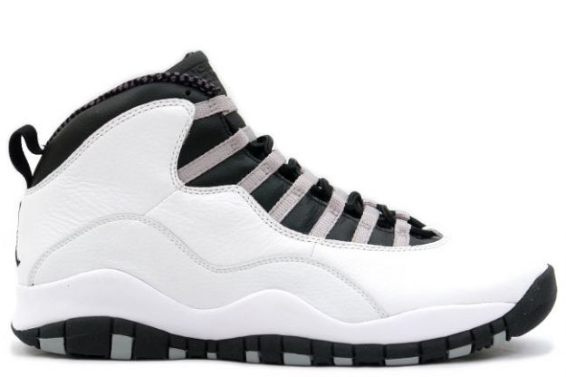 Jordan 10 Retro steels white black light steel grey shoes