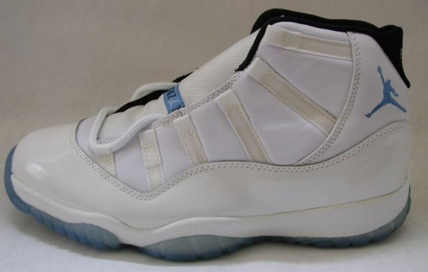 jordan 11 columbia white blue black shoes