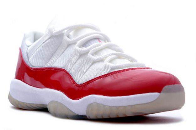 red and white air jordan 11