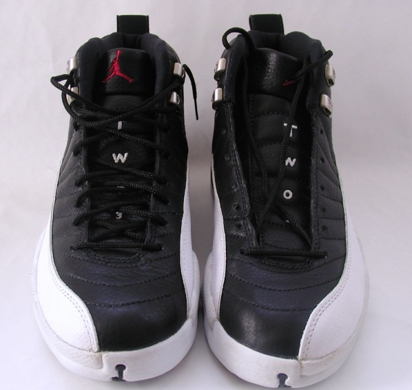 jordan 12 playoffs black varsity red white metallic silver shoes
