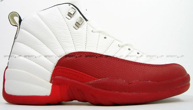 jordan 12 white varsity red shoes