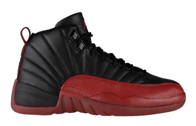 Jordan 12 Retro playoffs black varsity red shoes