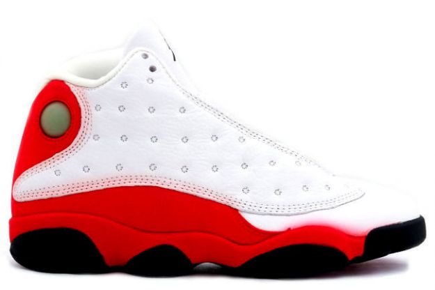 jordan 13 white black true red pearl shoes