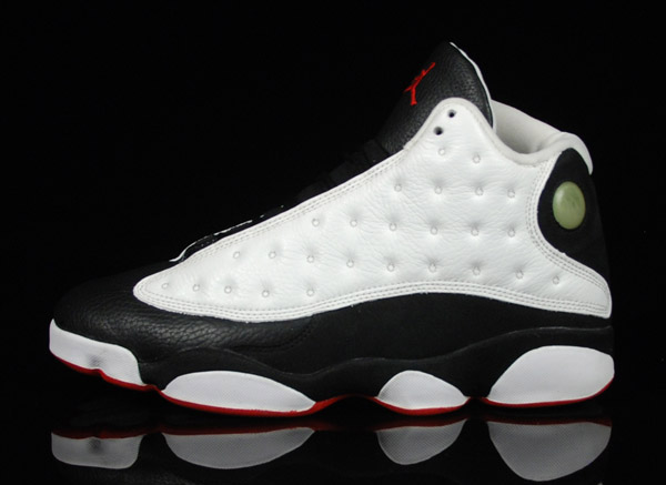 jordan 13 white true red black shoes