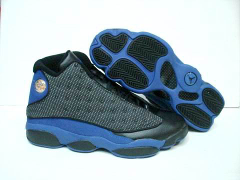 Jordan 13 Retro black blue shoes