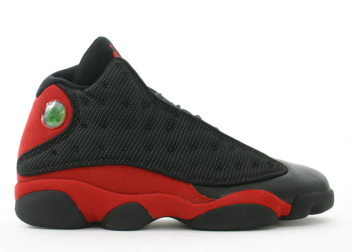 Jordan 13 Retro blacktrue red shoes