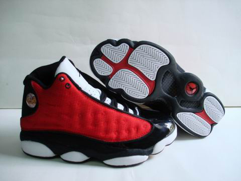 Jordan 13 Retro white black red shoes