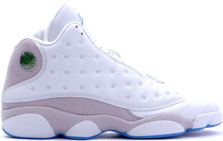 Jordan 13 Retro white grey university blue shoes